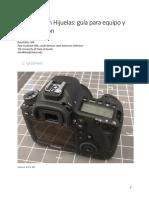 Digitalización Hijuelas Guía Equipo y Programación