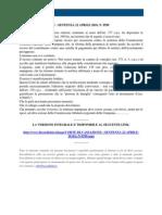 Fisco e Diritto - Corte Di Cassazione n 9590 2010