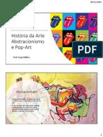 Abstracionismo e Pop Art