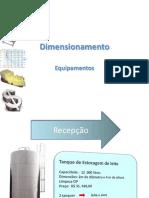 dimensionamento de equipamentos indústria alimentos