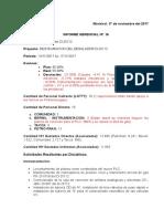 Informe N°. 16 hasta 17-11-2017