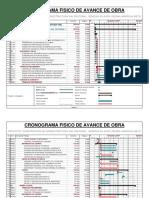 CRONOGRAMA - Infraestructura Vial