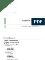 [REFERAT] Anestesi Regional