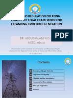 Minigrid Regulation and Embedded Generation