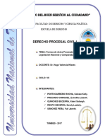 Formas de Actos Procesales Actual