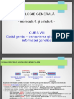 Curs 8 Codul Genetic