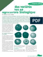 Le choix des variétés de pommes en agriculture biologique
