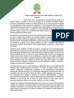 Comunicado - Sociedad Civil exige discusión y aprobación de la Ley de Cambio Climático en el Pleno del Congreso