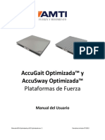 Manual de Usuario -Plataforma de Fuerza ACG y ACS Optimized - AMTI - ES