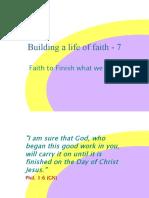 Building a Life of Faith - 7