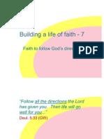 Building a Life of Faith - 8