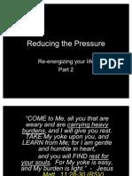 2 - Reducing the Pressure