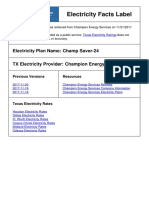 Electricity Facts Label - Champion Energy - Champ Saver 24