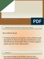 3 Método do Valor Anual Uniforme Equivalente (VAUE.pptx
