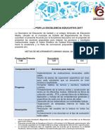 Acuerdo Por La Excelencia Educativa 2016 (SOLO ACCIONES)
