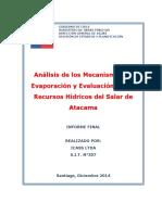 Salar Atacama - Recursos Hidricos