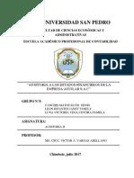 Auditoria Financiero a Empresa Aguilar Sac (1)