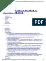 Telekomunikacije - Stručno-naučni Časopis Republičke Agencije Za Elektronske Komunikacije _ Prof. Dr Irini s. Reljin, Mr Aleksandar s