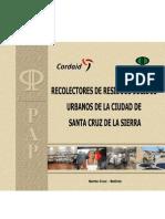 Libro Recolectores de Residuos Solidos Urbanos de La Ciudad de Santa Cruz