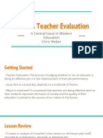 Modern Teacher Evaluation