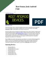 Cara Mudah Root Semua Jenis Android Dengan KingoApp