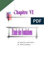 دراسة الاساسات ETUDE DE FONDATION