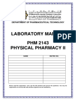PHM2143PhysicalPharmacy2LabManual
