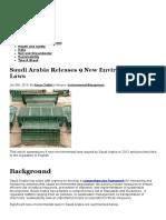 Saudi Arabia Releases 9 New Environmental Laws - EHS Journal