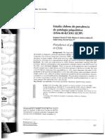 Estudio Chileno de Prevalencia de Patología Psiquiátrica