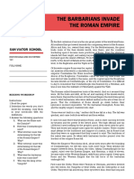 Reading Activity the Barbarians Invade the Roman Empire