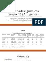 Propiedades Químicas Grupo 16 Anfígenos