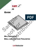 mill lesson fbm 2 mastercam pdf machine tool machining rh scribd com