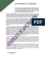 Protocolo de Manejo de La Obesidad Nutricion