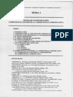 Tema 1. Lenguaje y comunicación. Competencia lingüística y competencia comunicativa