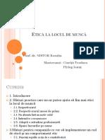 Etica La Locul de Munca Prezentare
