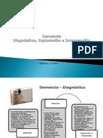 Demencia, Diagnóstico, Exploración e Intervención