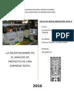 Incertidumbre.. Textil