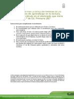 Cuestionario para la detección temprana dificultades aprendizaje 1r (Canarias)