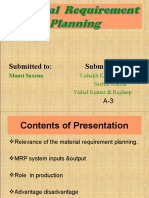 Material Requirements........... Planning