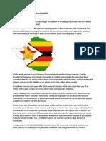 President Mugabe Speech