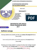 Revisi Ppt Komunitas Remaja Aj1,b20