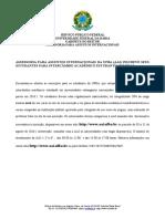 Chamada de Intercambio 2016.2 0