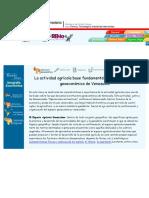 La Actividad Agrícola Base Fundamental de La Estructura Geoeconómica de Venezuela