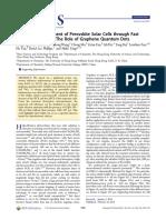 Efficiency Enhancement of Perovskite Solar Cells Through Fast