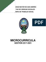 Microcurricula Carrera Trabajo Social