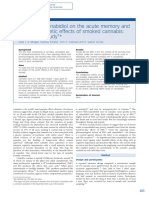 Impact of cannabidiol on the acute memory and psychotomimetic effects of smoked cannabis