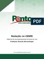 Redacao CESPE - Aula Ao Vivo