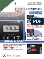 Manual Hioky 4056