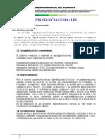 Especificaciones Tecnicas de Estructura