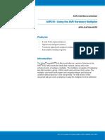 Atmel AVR201 Using the AVR Hardware Multiplier